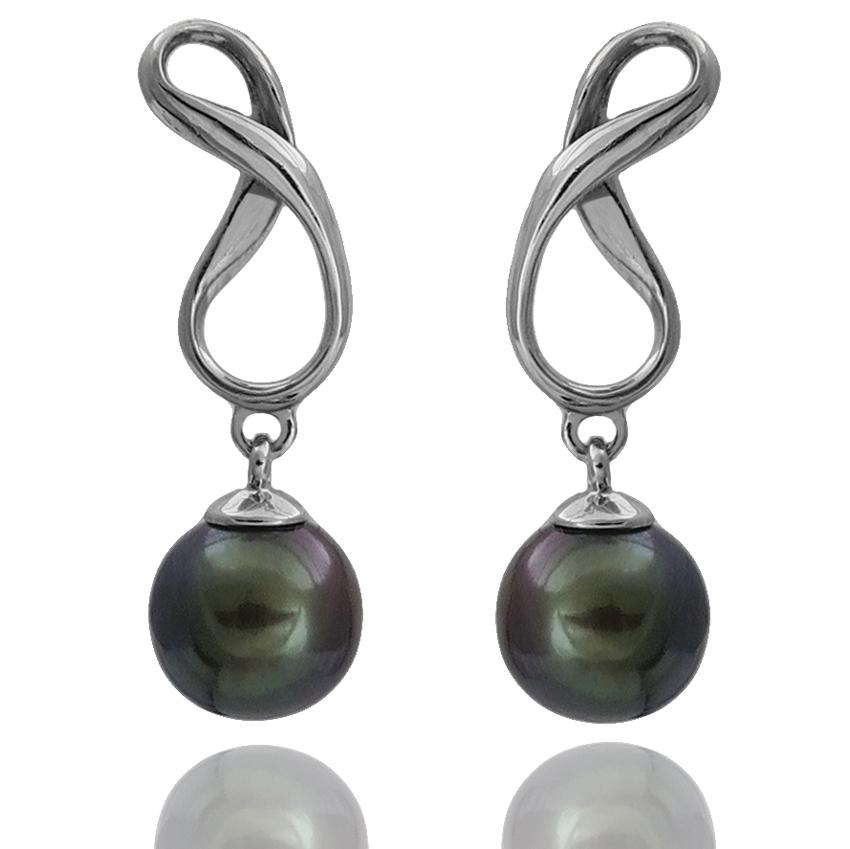 17ef010f377b Ref. 20978 pendientes oro blanco+perla cultivada 7´5 m m ...